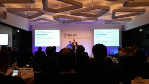Ernst Stockl-Pukall speaking at the Internet of Manufacturing yesterday