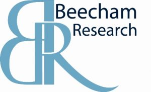 A logo of company Beecham Research