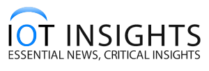 A logo of company IOT Insights