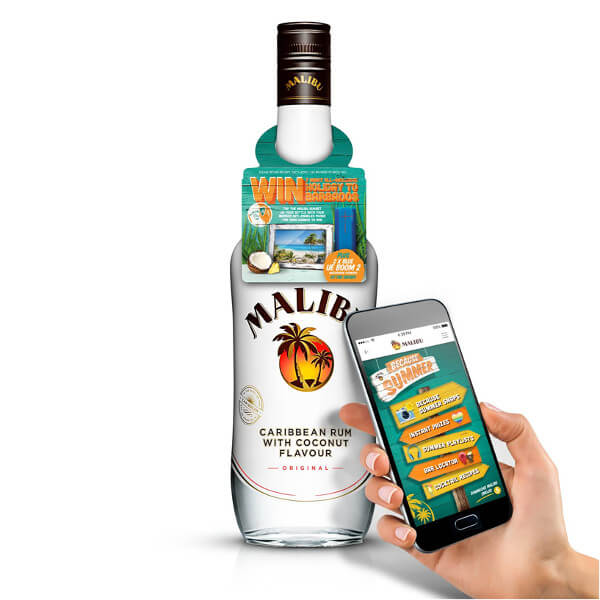 40,000 NFC-connected Malibu bottles are heading to Tesco stores
