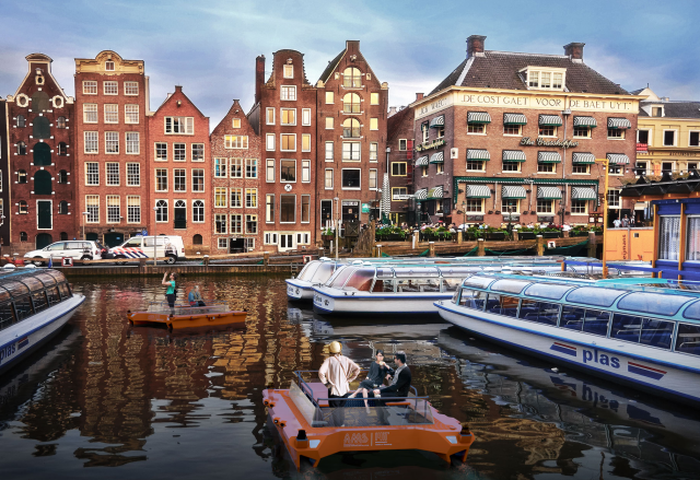 Driverless boats to launch on Amsterdam's canals