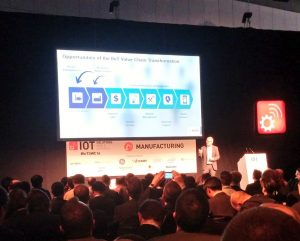 Dirk Slama speaking at the IoT Solutions World Congress today