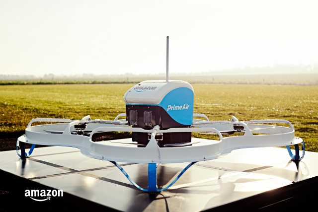 Amazon Prime Air exploring drone delivery by parachute