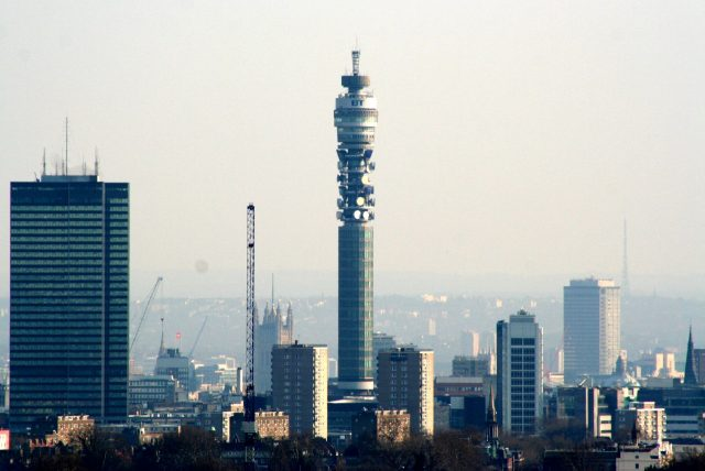 London's BT Tower is the world's highest IoT base station