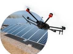 drones on solar farms