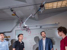 Tarzan robot swings above crops for automated agriculture