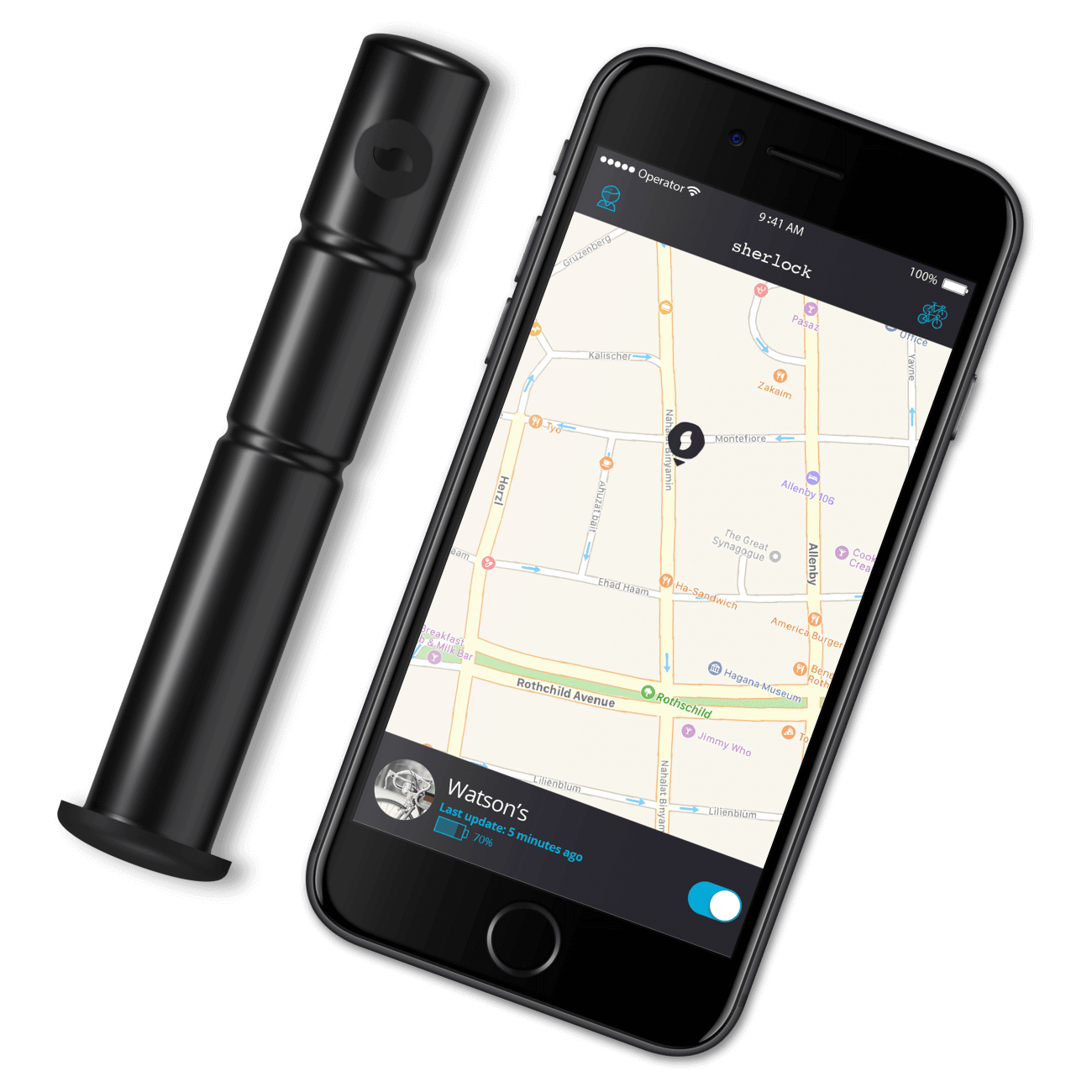 The Sherlock device and app