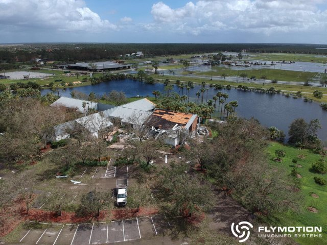 flymotion using drones in response to hurricane irma
