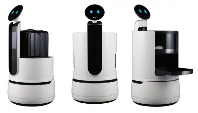 LG unveils new concept robots for carrying your drinks, suitcase, and shopping