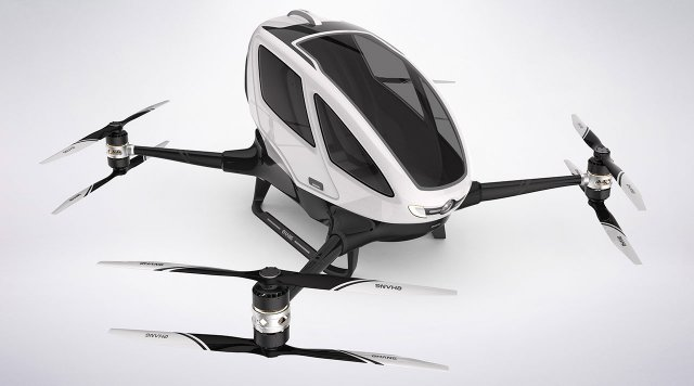 First Test Footage Revealed of EHANG 184 Manned Passenger Drone