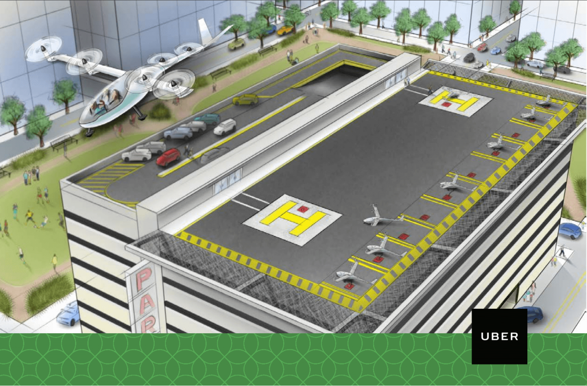 Uber showcases its flying taxi service concept