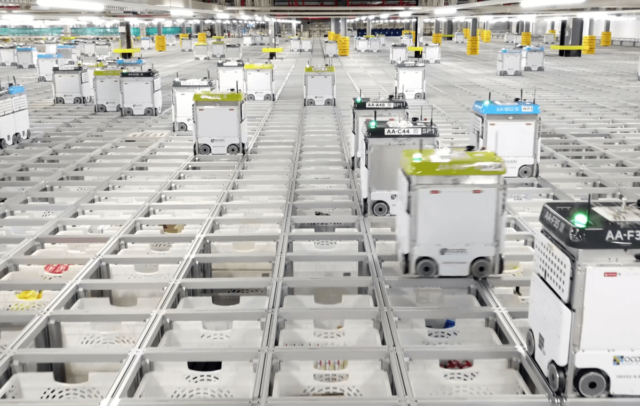 ocado profits stall while robot warehouse vision take shape